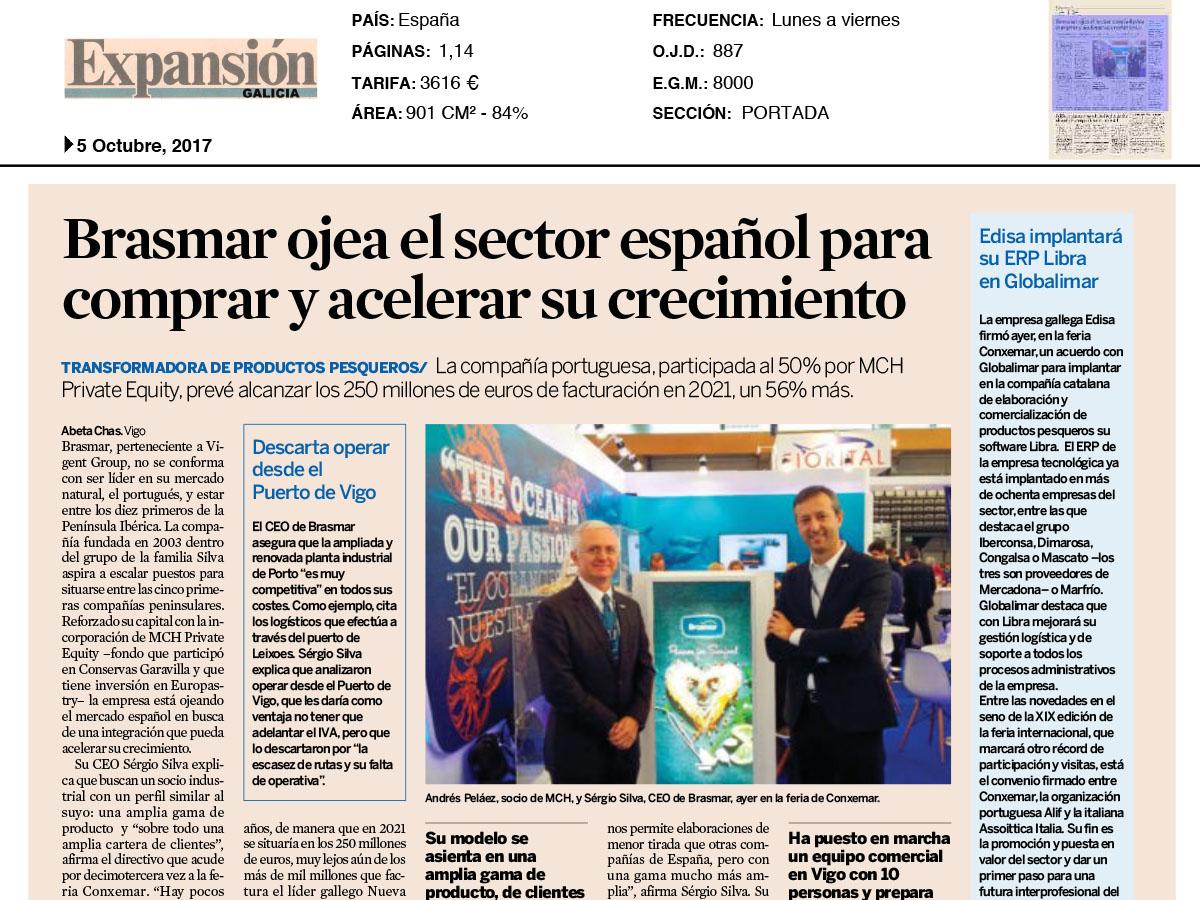 Brasmar ojea el sector español para comprar y acelerar su crecimiento – Expansión Galícia