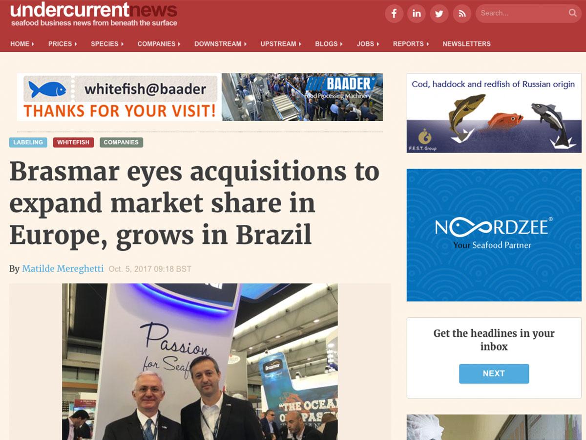 Brasmar observa aquisições para ampliar a participação de mercado na Europa, cresce no Brasil – Undercurrentnews