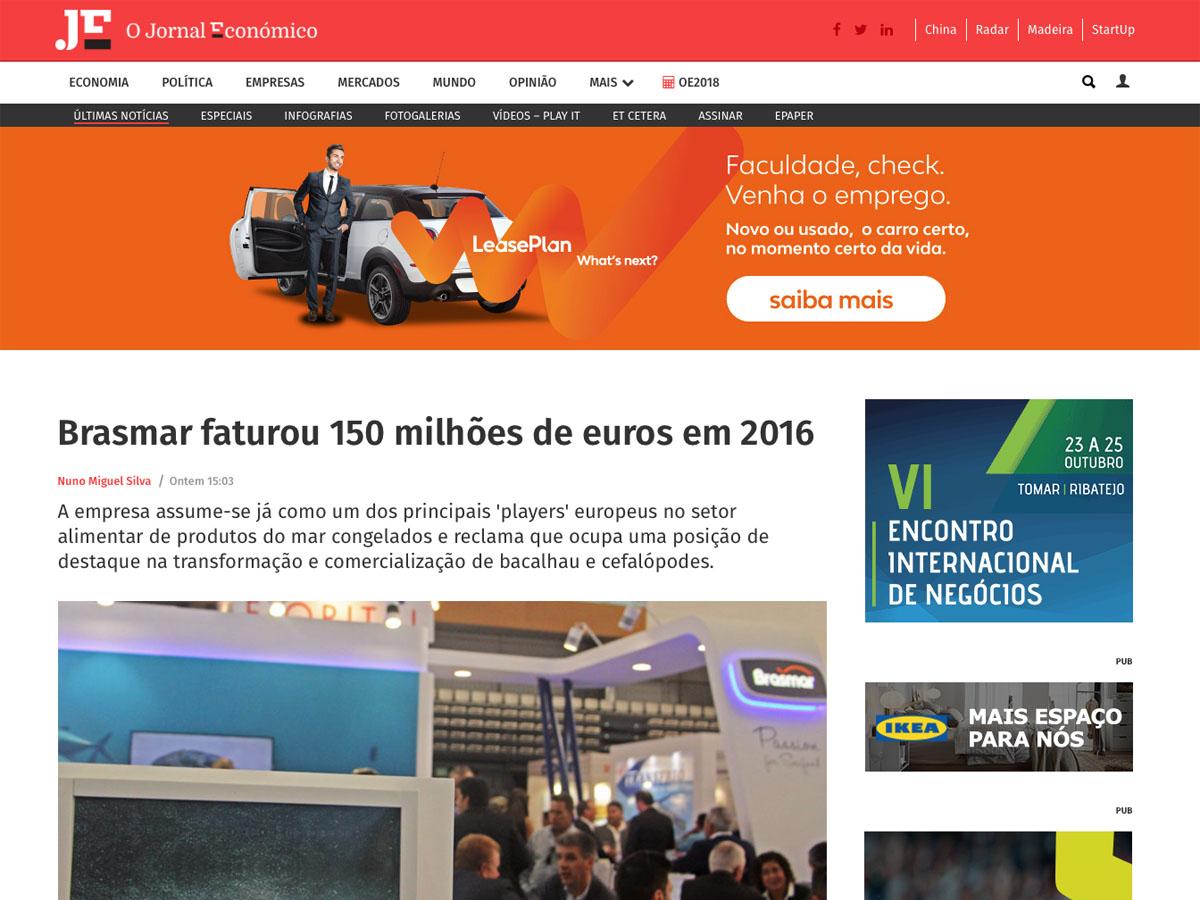 Brasmar faturou 150 milhões de euros em 2016 – O Jornal Económico