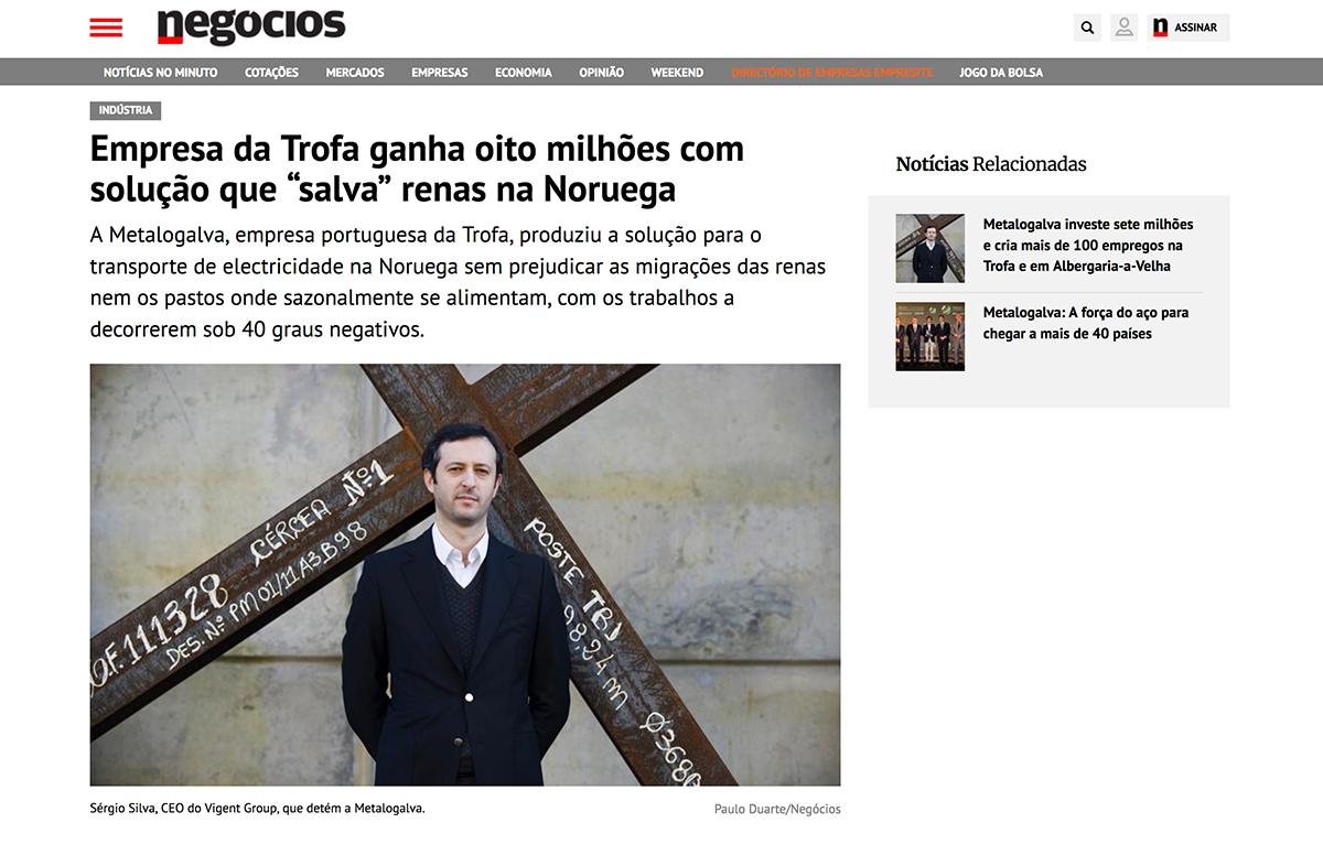 """Empresa da Trofa ganha oito milhões com solução que """"salva"""" renas na Noruega – Jornal de Negócios"""