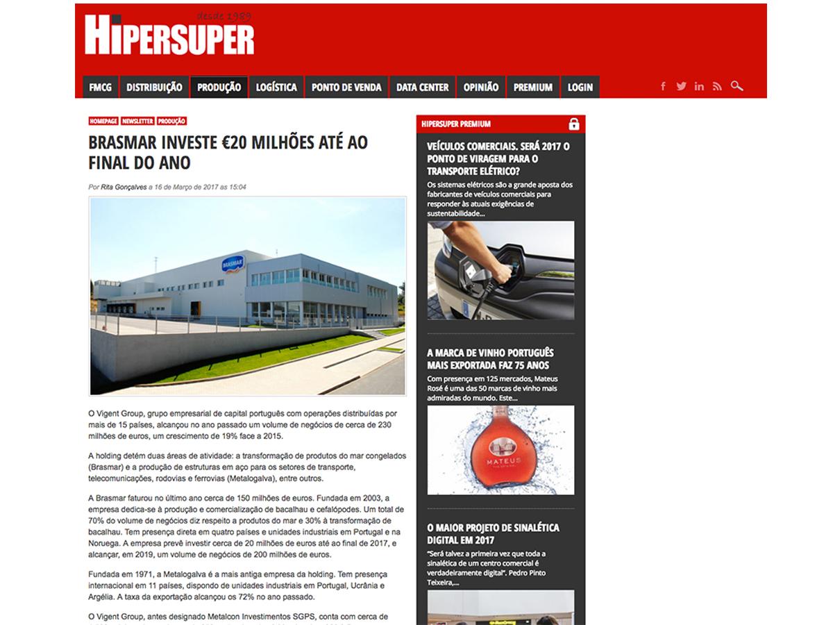 Brasmar investe €20 milhões até ao final do ano – Hipersuper