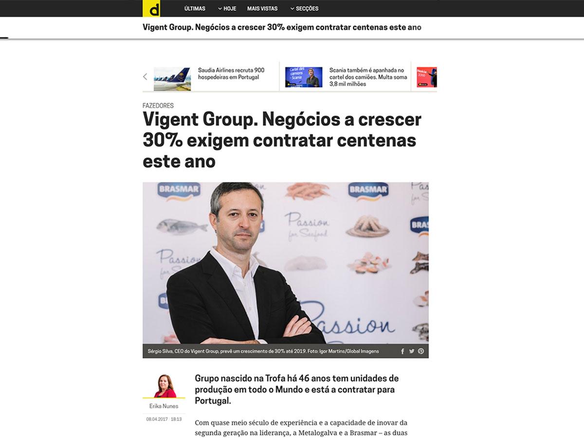 Vigent Group. Negócios a crescer 30% exigem contratar centenas este ano – Dinheiro Vivo