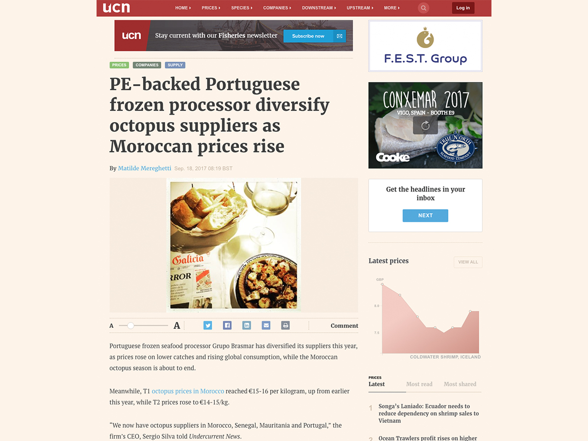 PE-backed Portuguese frozen processor diversify octopus suppliers as Moroccan prices rise – Undercurrentnews