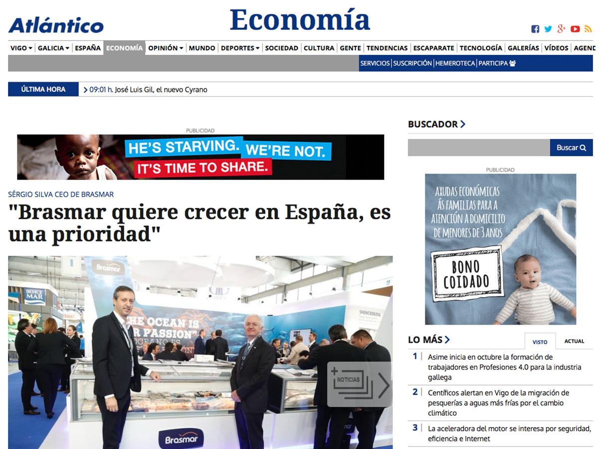 """""""Brasmar quiere crecer en España, es una prioridad"""" – Atlántico ES"""