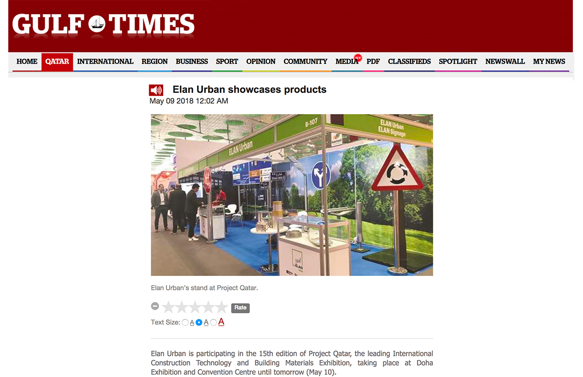 Elan Urban showcases products – Gulf Times