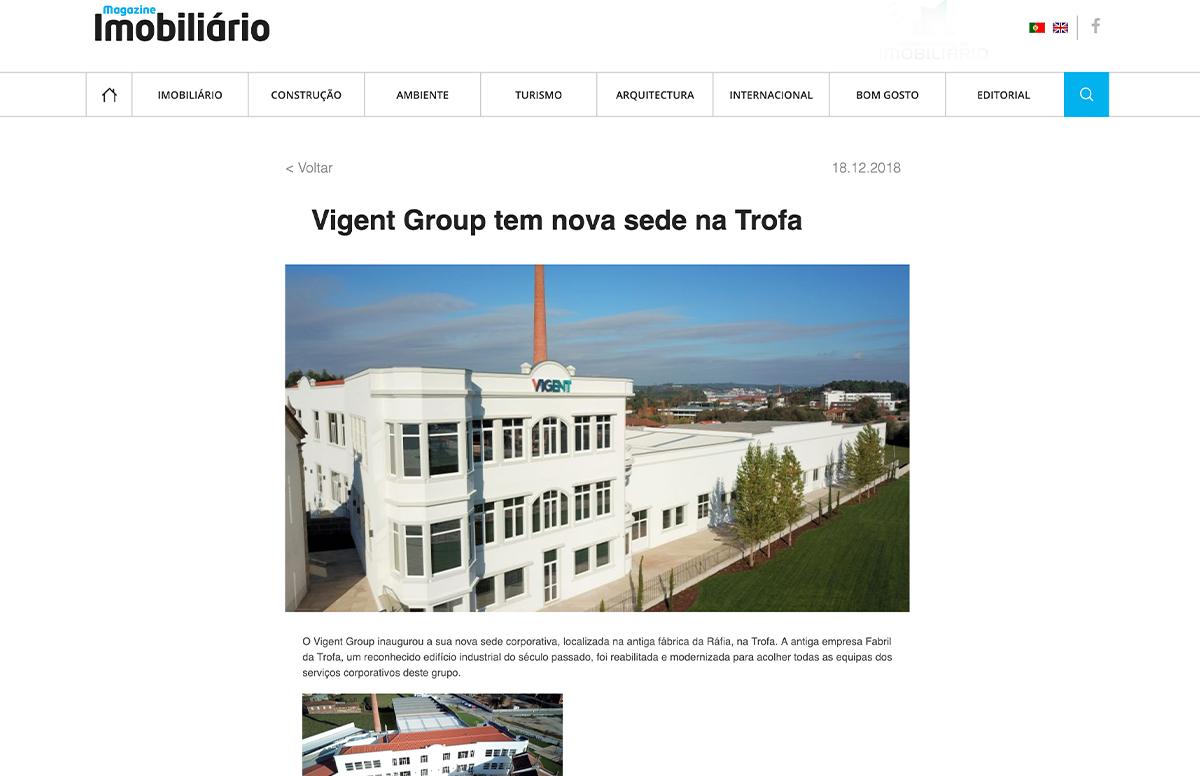 Vigent Group tem nova sede na Trofa – Magazine Imobiliário