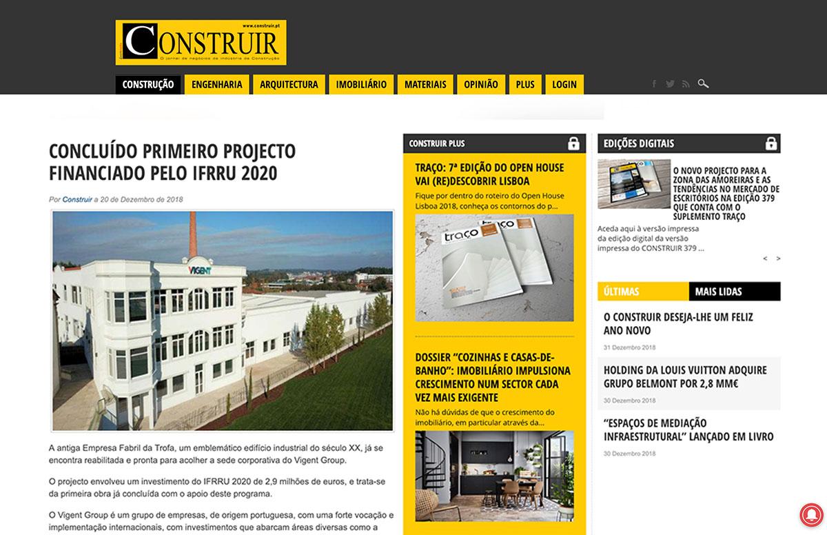Concluído Primeiro Projecto Financiado Pelo Ifrru 2020 – Construir