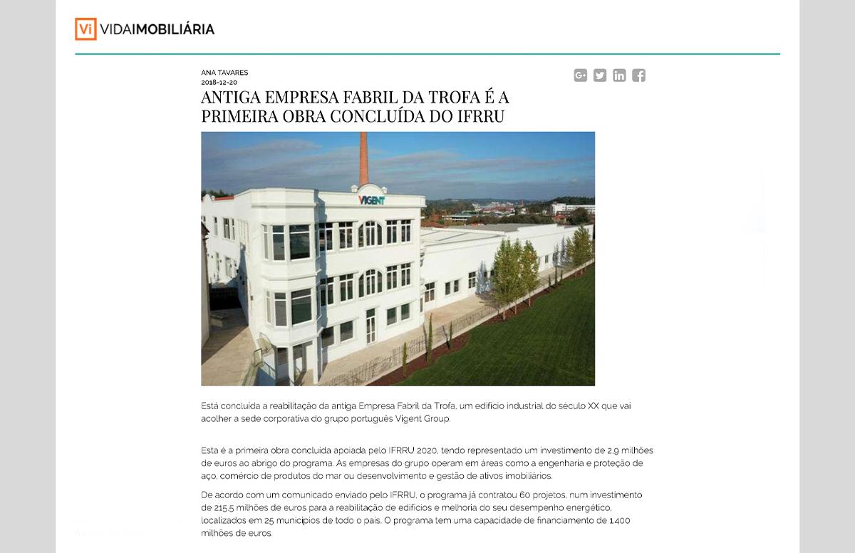 Antiga empresa fabril da Trofa é a primeira obra concluída do IFRRU – Vida Imobiliária