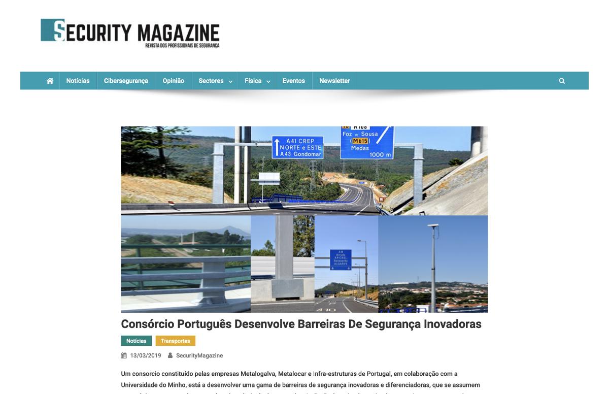 Consórcio Português Desenvolve Barreiras De Segurança Inovadoras – Security Magazine