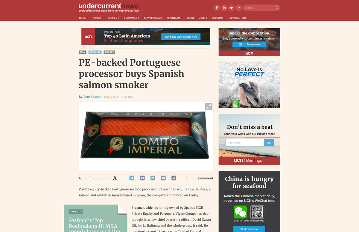 PE-backed Portuguese processor buys Spanish salmon smoker – Undercurrentnews