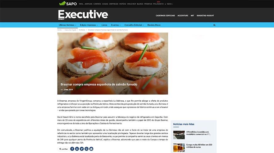 Brasmar compra empresa espanhola de salmão fumado – Executive Digest