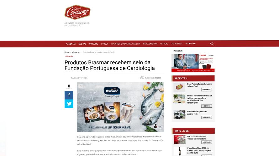 Produtos Brasmar recebem selo da Fundação Portuguesa de Cardiologia – Grande Consumo