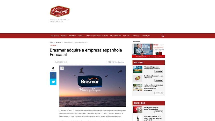 Brasmar adquire a empresa espanhola Foncasal – Grande Consumo