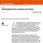 Metalogalva foi às compras em França – Expresso