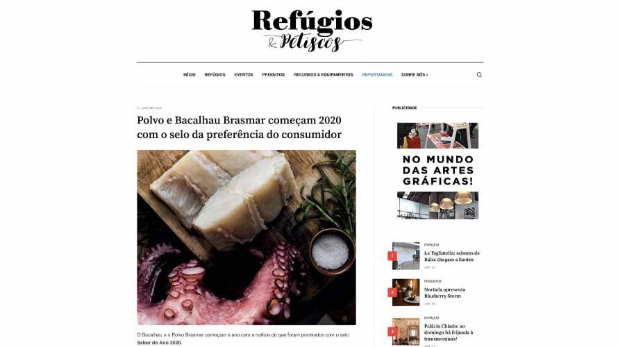 Polvo e Bacalhau Brasmar começam 2020 com o selo da preferência do consumidor – Refúgios & Petiscos